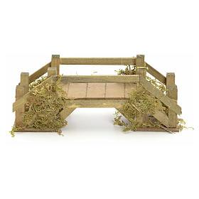 Pont en bois et mousse pour crèche 8x20x6 cm s1