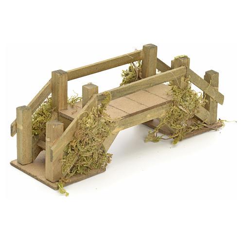 Pont en bois et mousse pour crèche 8x20x6 cm 2
