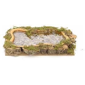 Nativity setting, lake, water effect 15x10cm s1