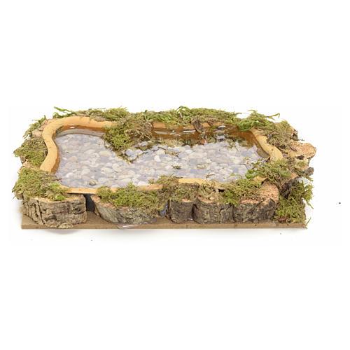 Nativity setting, lake, water effect 15x10cm 1
