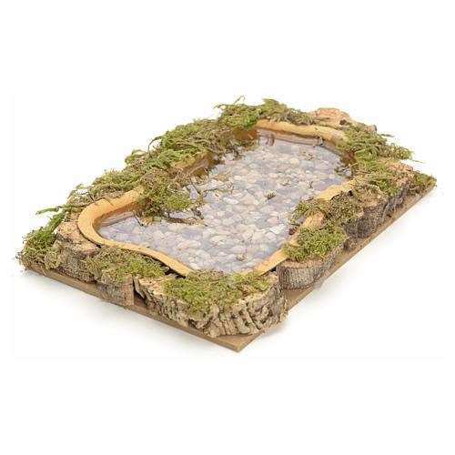 Nativity setting, lake, water effect 15x10cm 2