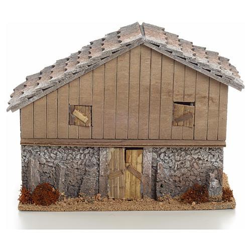 Nativity setting, mountain refuge 22x27x13cm 1