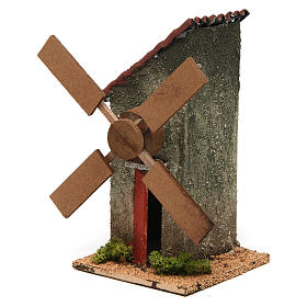 Mini moulin à vent électrique 18x10x10 cm s2