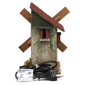 Mini moulin à vent électrique 18x10x10 cm s4