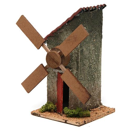 Mini moulin à vent électrique 18x10x10 cm 2
