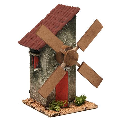 Mini moulin à vent électrique 18x10x10 cm 3