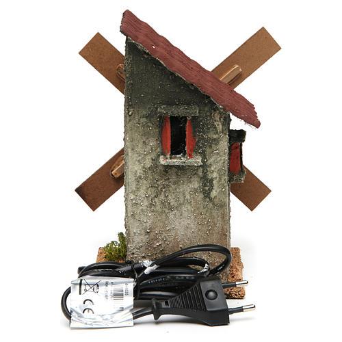 Mini moulin à vent électrique 18x10x10 cm 4