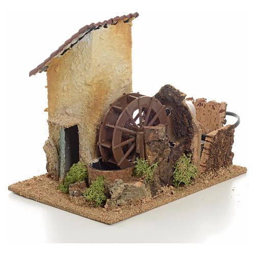 Mini moulin à eau électrique 20x15x20 cm 2