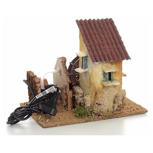 Mini moulin à eau électrique 20x15x20 cm 3