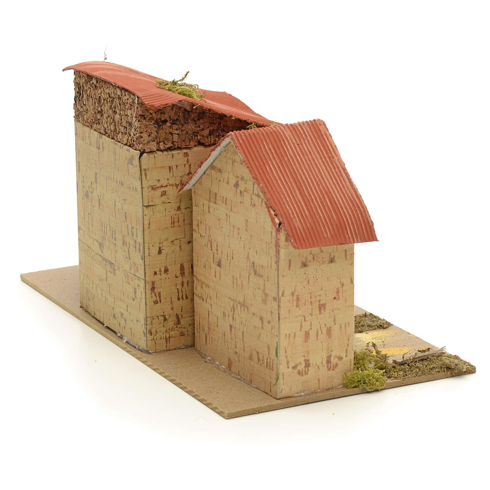 Casa ambientación pesebre 16x28x16 cm 4