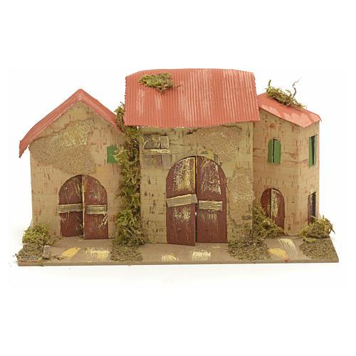 Casa ambientación pesebre 16x28x16 cm 1