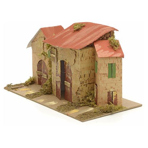 Casa ambientación pesebre 16x28x16 cm 2