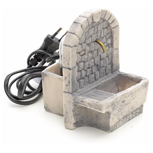Fuente con batea para lavar en resina 13x10x10 2