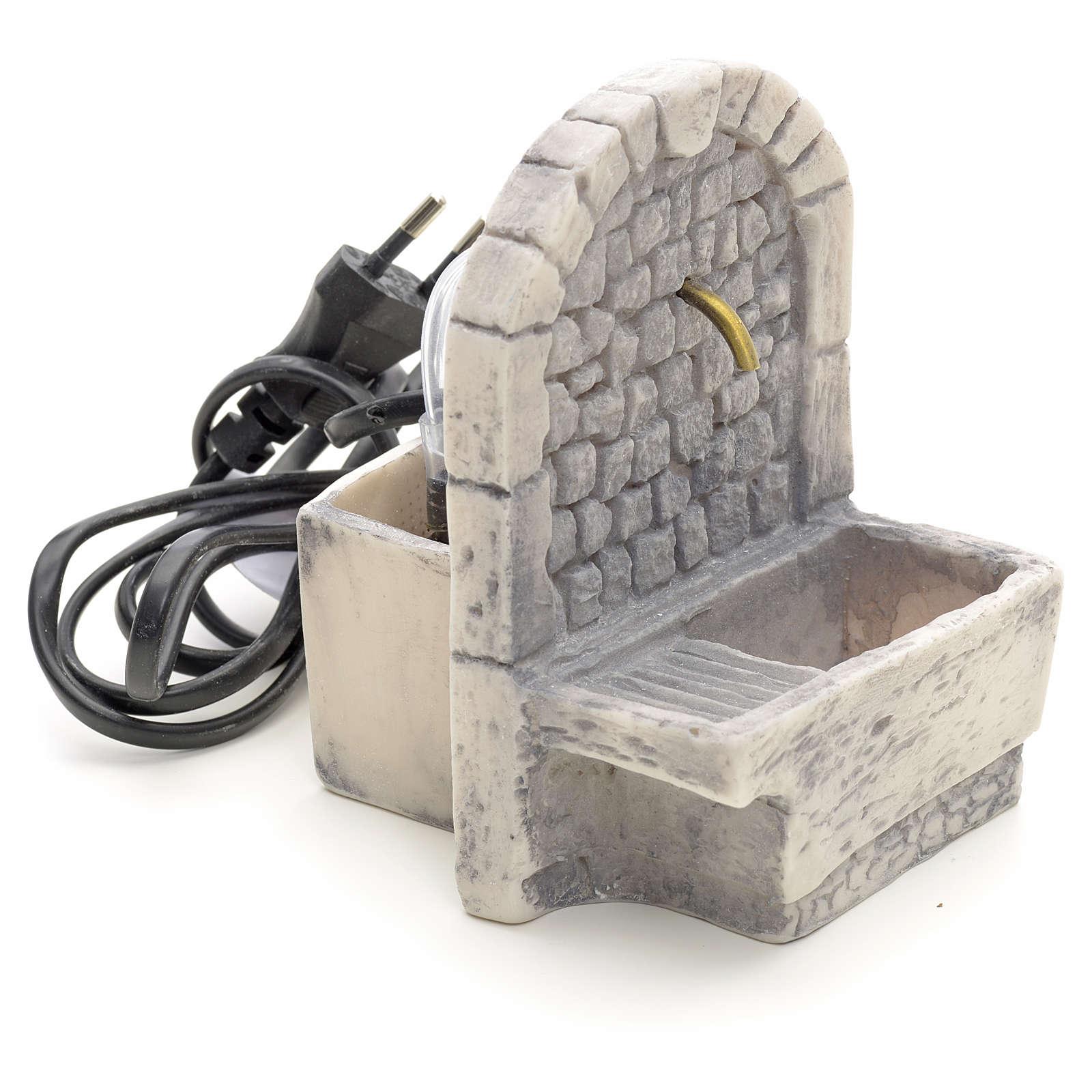 Fontaine avec lavoir résine pour crèche 13x10x10 4