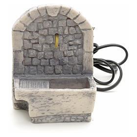 Fontaine avec lavoir résine pour crèche 13x10x10 s1