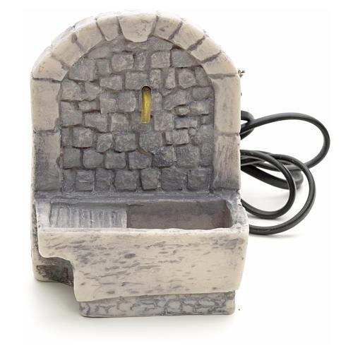 Fontaine avec lavoir résine pour crèche 13x10x10 1