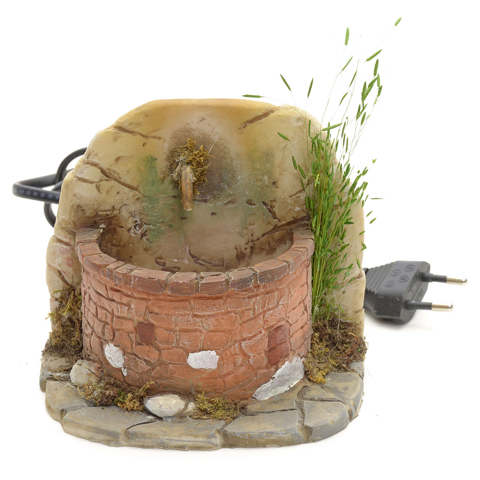 Fontaine avec briques résine pour crèche 11x11x11 4