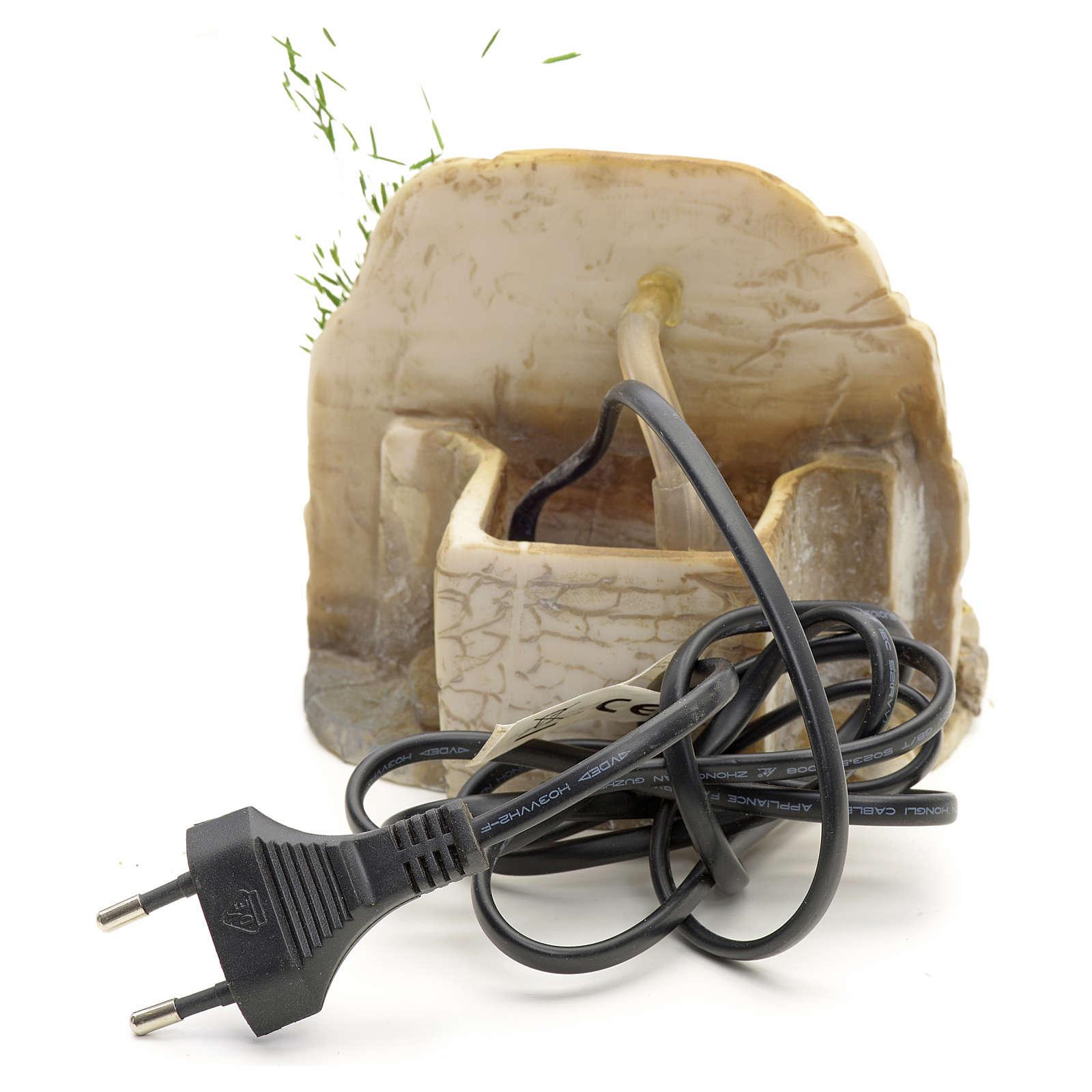 Nativity fountain in resin with small bricks 11x11x11cm 4
