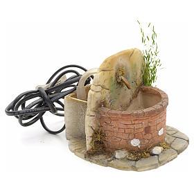 Nativity fountain in resin with small bricks 11x11x11cm s2