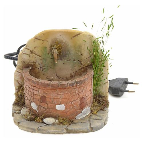 Nativity fountain in resin with small bricks 11x11x11cm 1