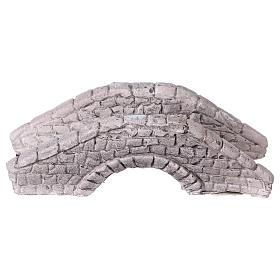 Mini pont en plâtre pour crèche 6x15x7 cm s1
