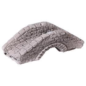 Mini pont en plâtre pour crèche 6x15x7 cm s3