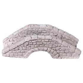 Mini pont en plâtre pour crèche 6x15x7 cm s4