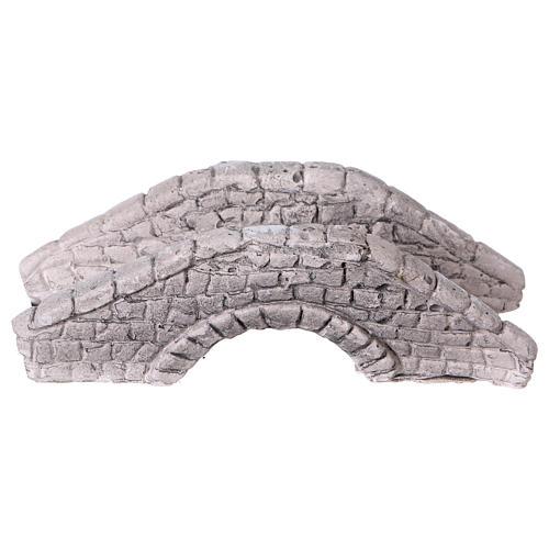 Mini pont en plâtre pour crèche 6x15x7 cm 1