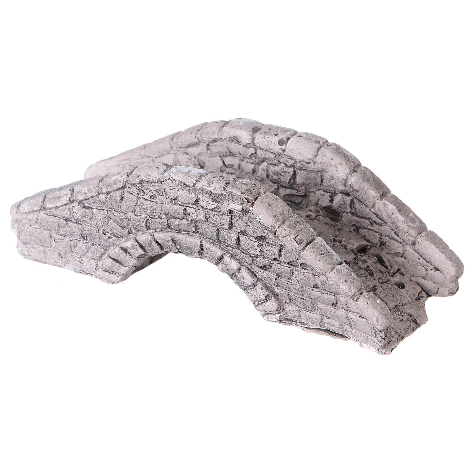 Ponticello presepe in gesso 6x15x7 4