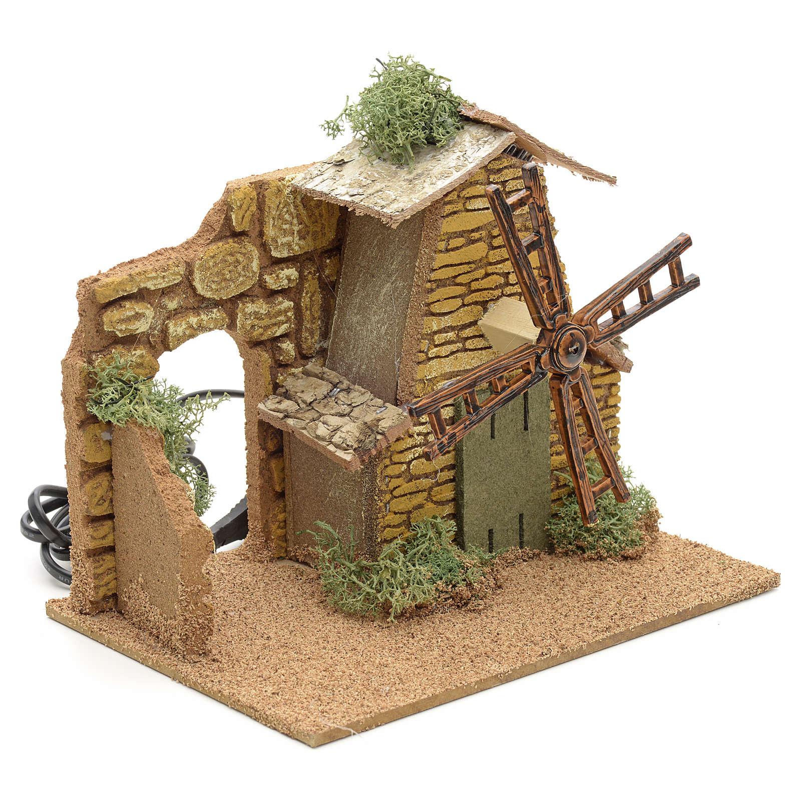 Nativity setting, moving wind mill 4
