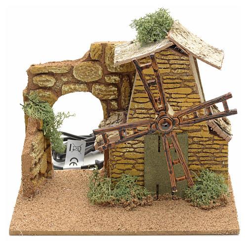 Nativity setting, moving wind mill 1