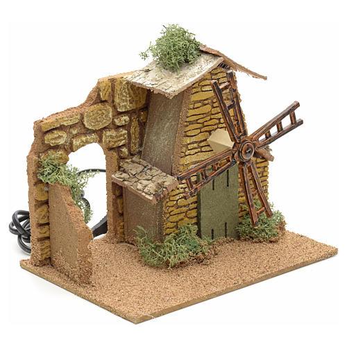 Nativity setting, moving wind mill 2