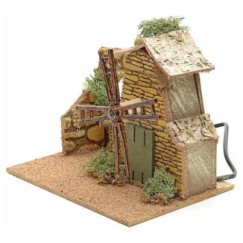 Nativity setting, moving wind mill 3