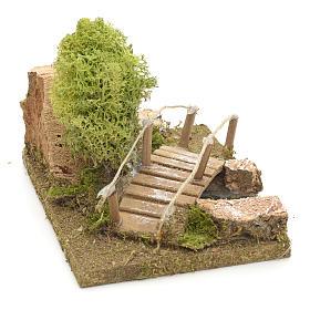 Nativity setting, bridge with lichen and cork rocks s3