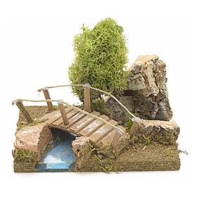 Nativity setting, bridge with lichen and cork rocks s1