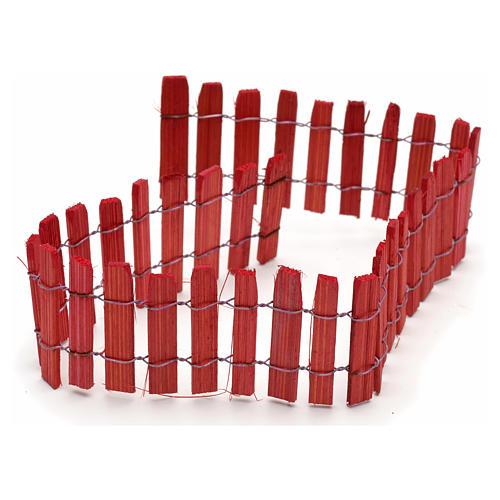 Cerca madera roja pesebre 40cm 1