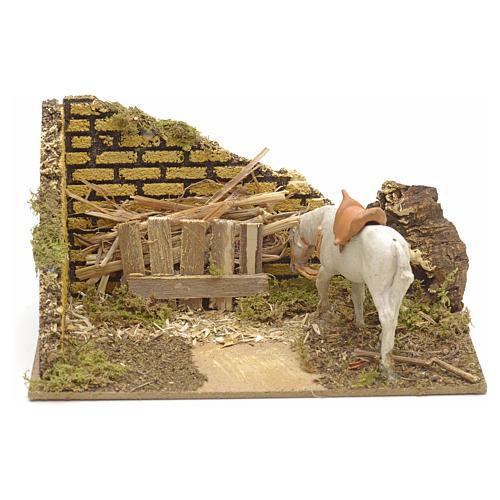 Ambiente presepe con mangiatoia e cavallo 1