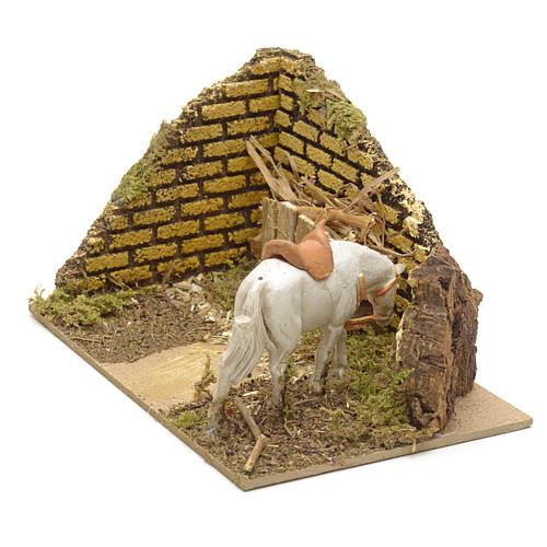 Ambiente presepe con mangiatoia e cavallo 2