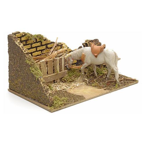 Ambiente presepe con mangiatoia e cavallo 3