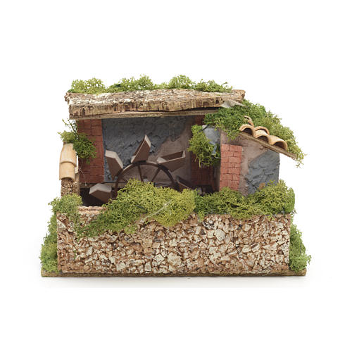 Nativity water mill with moss and lichen 1