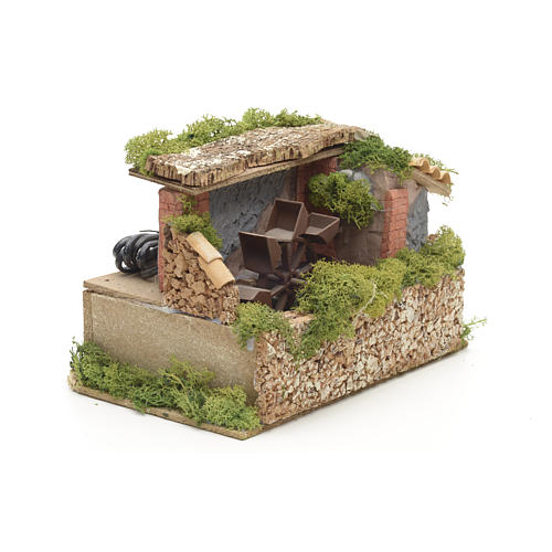 Nativity water mill with moss and lichen 2