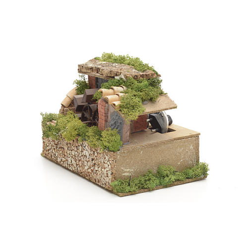 Nativity water mill with moss and lichen 3
