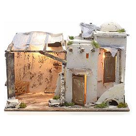 Casa palestina iluminada para Pesebre Napolitano 10 cm s1