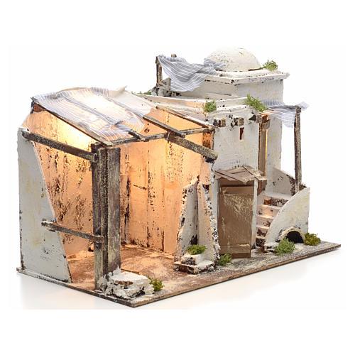 Casa palestina iluminada para Pesebre Napolitano 10 cm 2