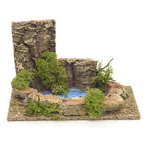 Ambientazione lago presepe 9x14x9 1