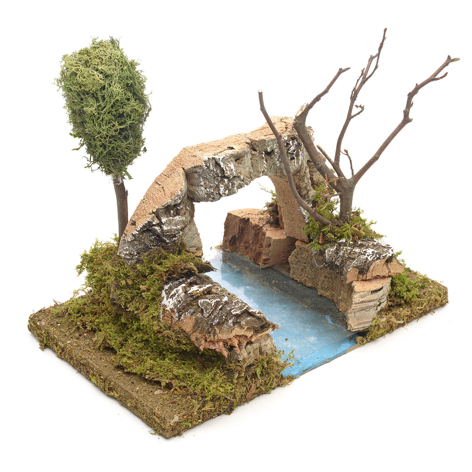 Nativity setting, river with arch in cork 4