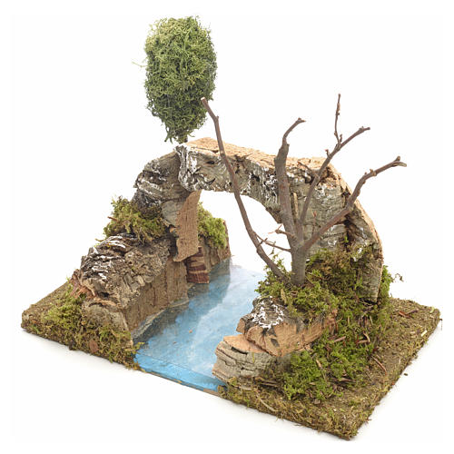 Nativity setting, river with arch in cork 3