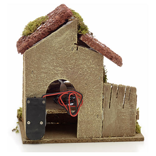 Nativity accessory, battery powered oven with bundles 16x14x14cm 3