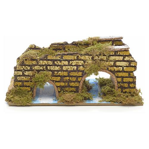 Nativity setting, double bridge 9x19x12cm 1