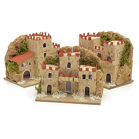 Nativity setting, houses in cardboard 8x10x6cm (3 different models) s3